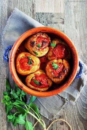 Ardei umpluti cu orez, facuti pe indelete...Stuffed bell pepper with rice #vegan