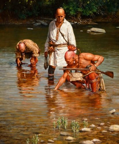 Native Woodland Plants: ROBERT GRIFFING (b. 1940)Picking Clams On French Creek
