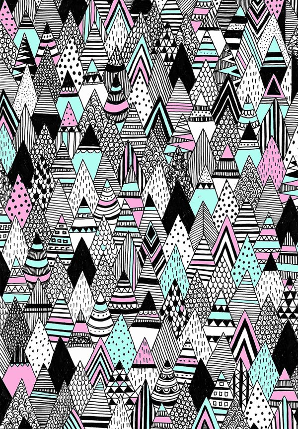 Triangle pattern by Charly Clements, via Behance