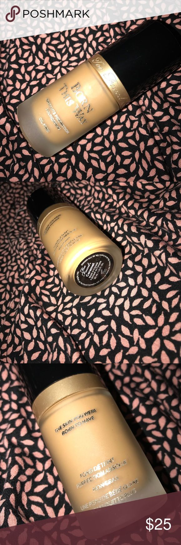 Too Faced Foundation! Full size !! In shade caramel !! Too Faced Makeup Foundation