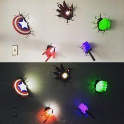 1000 Ideas About Avengers Wall Lights On Pinterest
