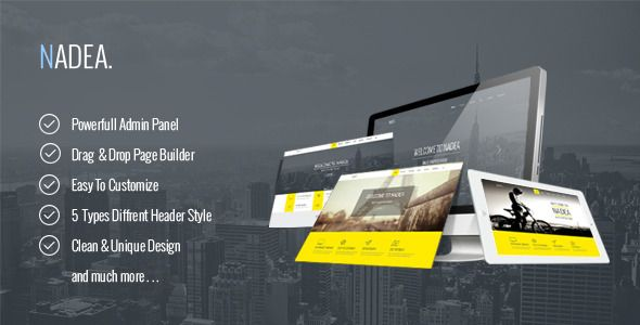 nice Nadea - Responsive Multi-Purpose WordPress Theme (Business)