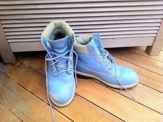 90s Baby Blue Timberland Boots Men 6 Women 8 by KlubKidVintage, $25.00