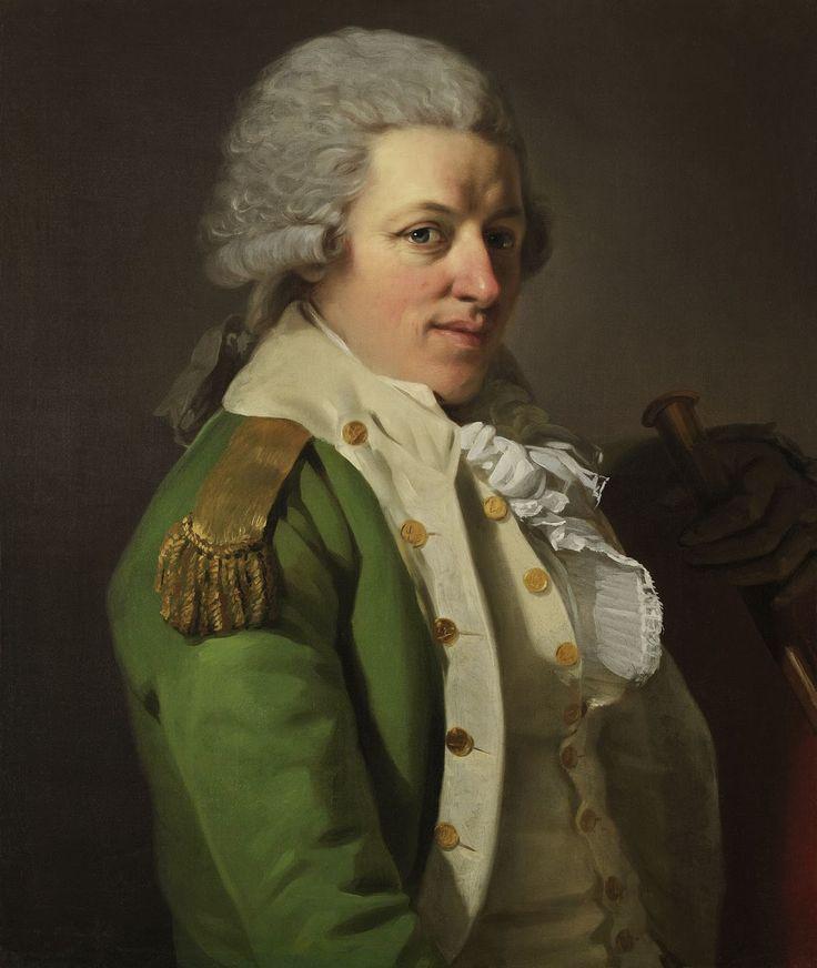 "Barón Joseph DUCREUX, ""Retrato de N. de N., Mayor del 4º Batallón de Cazadores de las Cévènnes""; óleo sobre lienzo, circa 1788."