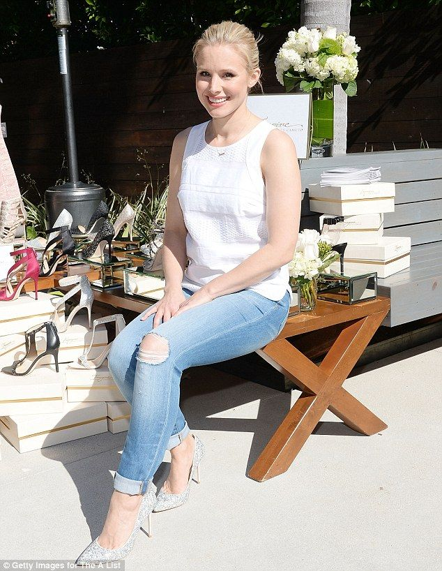 On the case! Kristen Bell was among the celebrities who turned out for the spring launch e...