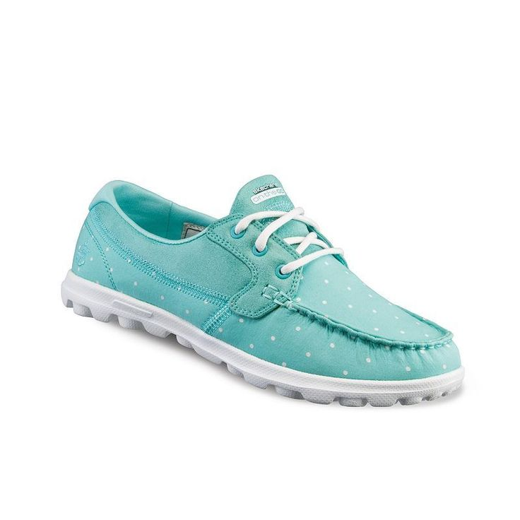 Skechers On-The-Go Dotty Women's Boat Shoes, Size: 8.5, Turquoise/Blue (Turq/Aqua)
