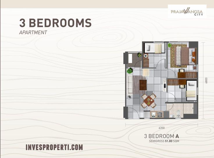Prajawangsa City Apartment 3BR