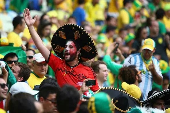La afición del México vs Brasil