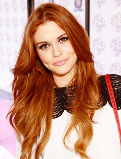 Holland Roden. The greatest head of hair I have ever seen in my life.