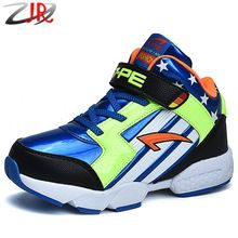 2015 Fashion Autumn and Winter Non-slip Shock Absorption Children Sport Shoes Child Basketball Shoes for Kids Big Boys