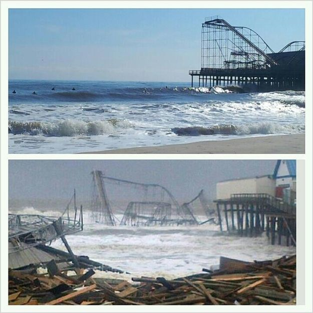 Hurricane Sandy horrific before and afters
