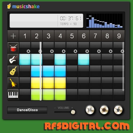 Musicshake.com - crea tus ritmos musicales con facilidad