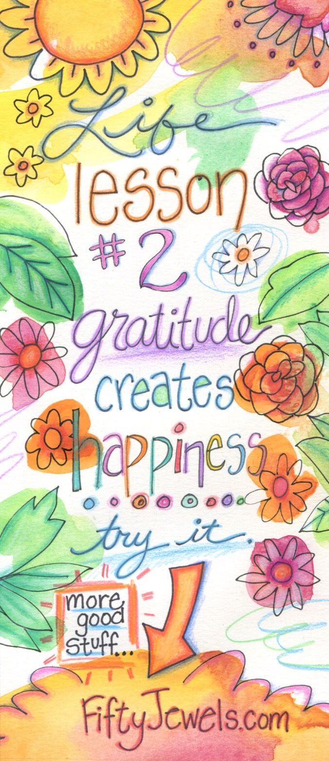The quickest way to get Happier is with Gratitude! CLICK to learn simple tricks to jump-start your JOY! Pin for later and to share. http://FiftyJewels.com