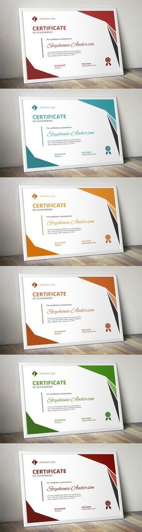 25 best Certificate layout images on Pinterest Certificate - corporate certificate template