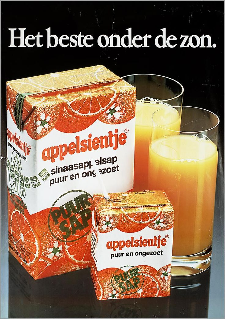 Appelsientje: 80's orange juice package