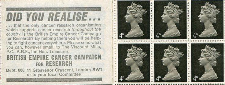 Francobolli - Lotta contro il cancro - Fight against cancer Stamps Gran Bretagna 1968