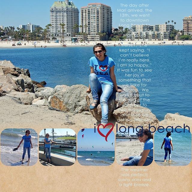 Layout by violetsnana #scrapbook #layout #beach