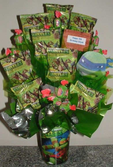 TEENAGE Mutant NINJA Turtles Candy Bouquet by CandyFlorist on Etsy, $29.95