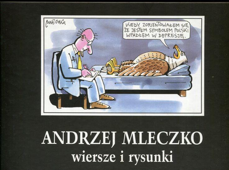 """""""Wiersze i rysunki"""" Andrzej Mleczko Cover by Andrzej Barecki Published by Wydawnictwo Iskry 2005"""