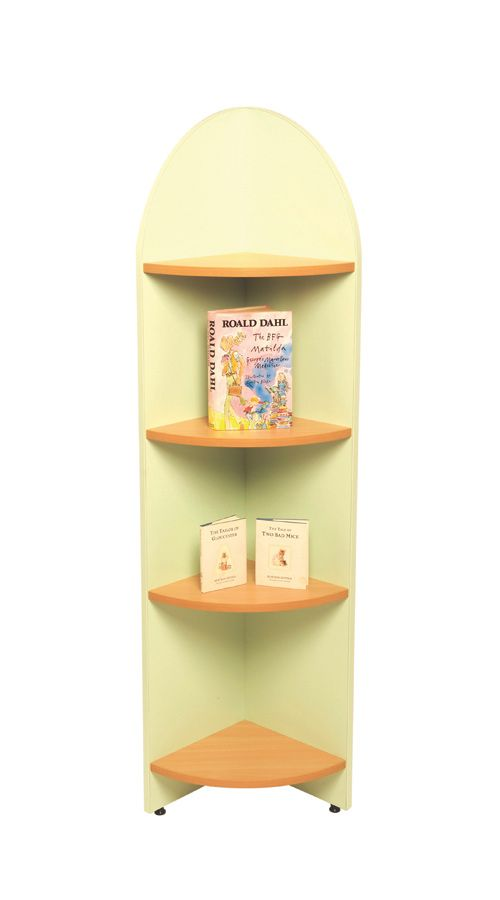 Lovely Single Sided End Display Shelf In 2 Heights And Choice Of Colours.  Complements Our Range Of Tortuga Library Shelving. Library Furniture Ideal  For Schools.