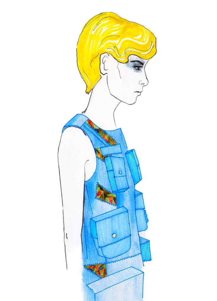 Gyo Yuni Kimchoe SS15 - Illustration by Isabelle Hynds  [Twitter @TheStyleSieve]