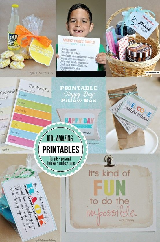 Now over 200 #printables in one spot! Gifts, organization, binders, holidays, personal and more. There's something for everyone and everything!