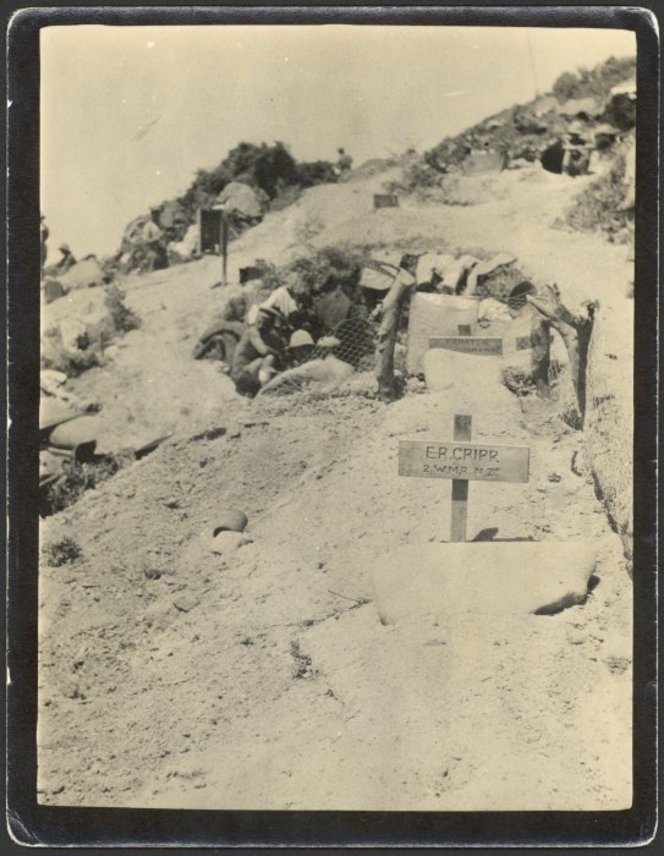 Graves near a bivouac, Gallipoli peninsula, Turkey