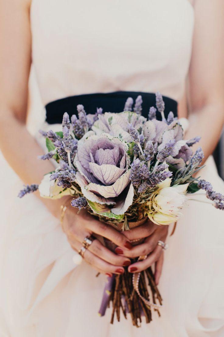 ramo de novia en tonos lila