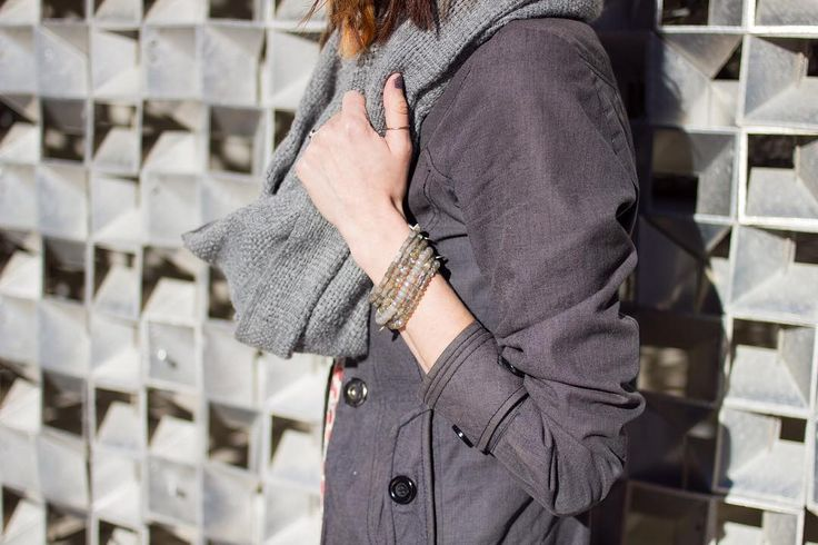 Layering labradorite bracelets and all the clothing possible on this snow day!❄️ ❄️ ❄️ ❄️