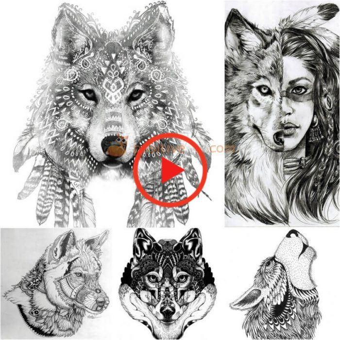Best 100 Wolf Tattoo Ideas Wolf Tattoo Design Ideas With Meaning In 2020 Wolf Tattoos Men Wolf Tattoo Design Wolf Dreamcatcher Tattoo