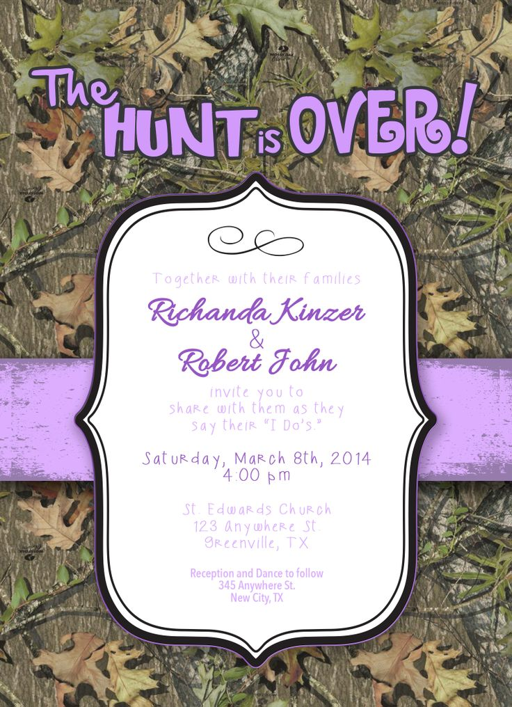 the 25+ best camo wedding invitations ideas on pinterest | redneck, Wedding invitations