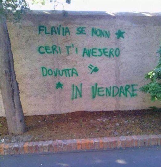 scritta su muro....