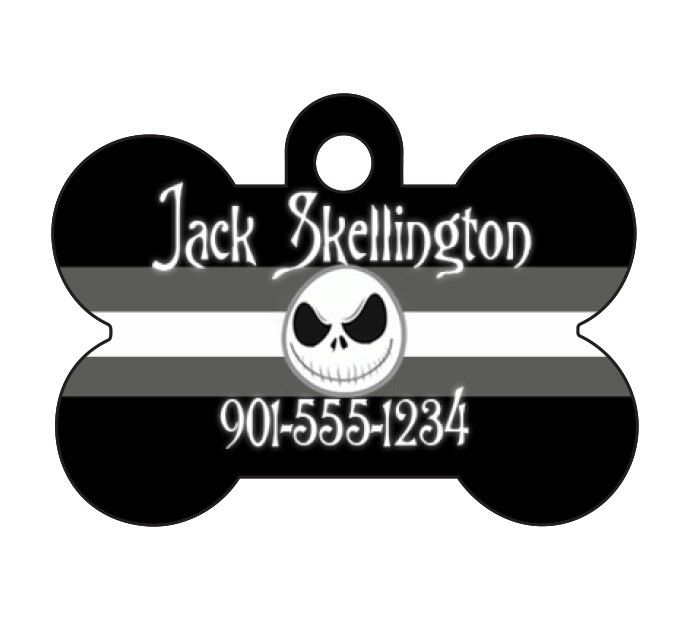 Disney Nightmare Before Christmas Personalized Dog Tag Pet ID w/ Name & Number Jack Skellington by uDesignCustoms on Etsy https://www.etsy.com/listing/245699290/disney-nightmare-before-christmas