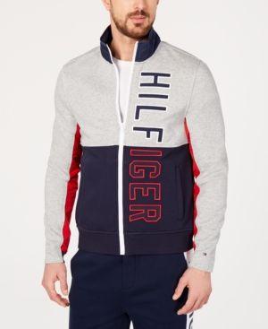 88e6b43c Tommy Hilfiger Men's Big & Tall James Full-Zip Sweatshirt - Gray 2XB ...