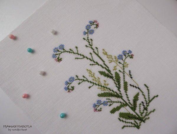 Кусочек лета 2  Piece of summer 2: Yamanashi Mikiko «Danish embroidery of Gerda Bengtsson»