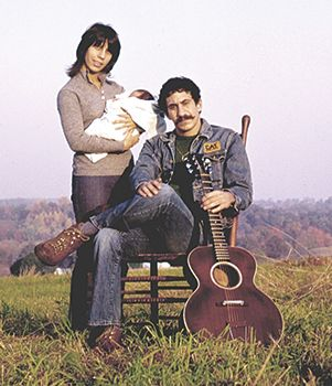 Jim Croce with his wife, Ingrid, and their son, A.J., 1971