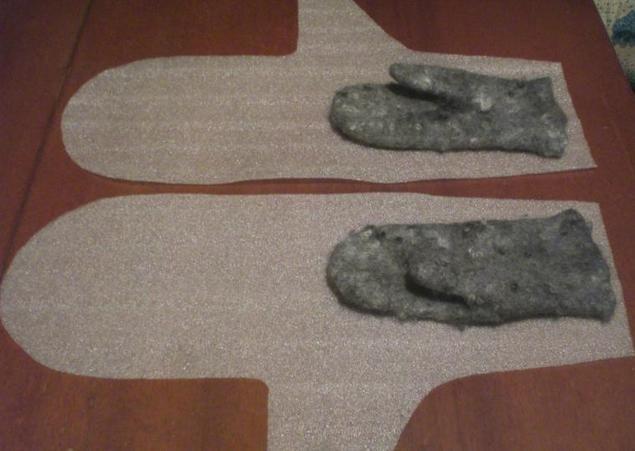 Innym sposobem konstruowania rękawiczki wzór do filcowania - Fair Masters - handmade, ręcznie robione