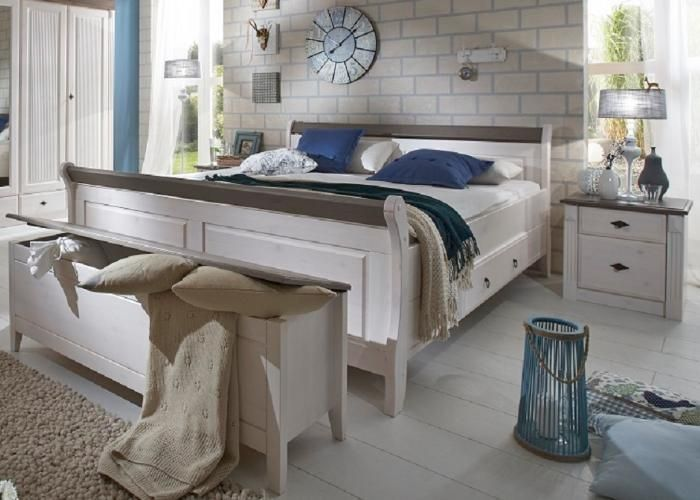 Schlafzimmer Set Emma im LandhausstilDieses Angebot ist - komplett schlafzimmer massiv