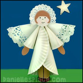Christmas Craft for Kids - Paper Plate Angel Ornament Craft from www.daniellesplace.com