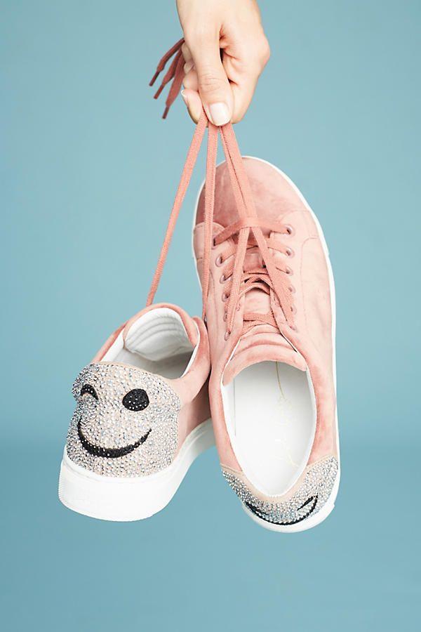 Lola Cruz Velvet Smile Sneakers In 2019 Shoes Fashion