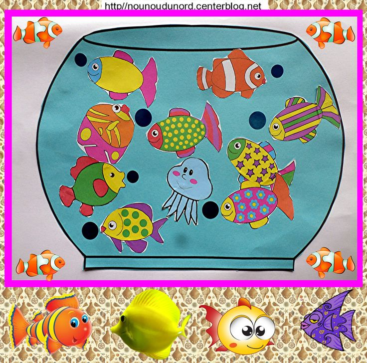 17 best images about activit s manuelles les poissons la for Bocal de poisson