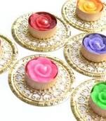 Buy decorative Diwali Diyas Online at Mirraw. We offer wide range of unique design of Diwali candles and lights at discounted rates. Get it today!