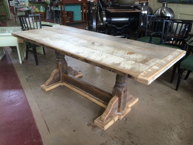 Dining Table White Washed From Black Dog Salvage