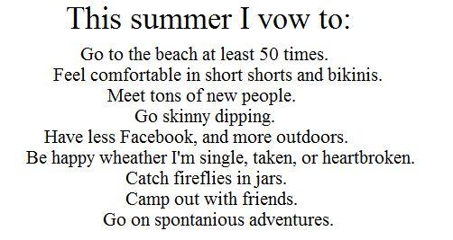 :): Summer 2013, Bucketlist, Summer 2012, Bucket List, Skinny Dipping, Inspiration, Quotes, Summer 3, Summer Vow