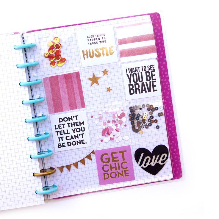DIY Shaker Pocket Insert w/ Happy Planner™ Page Protectors by mambi Design Team member Jennie McGarvey   me & my BIG ideas