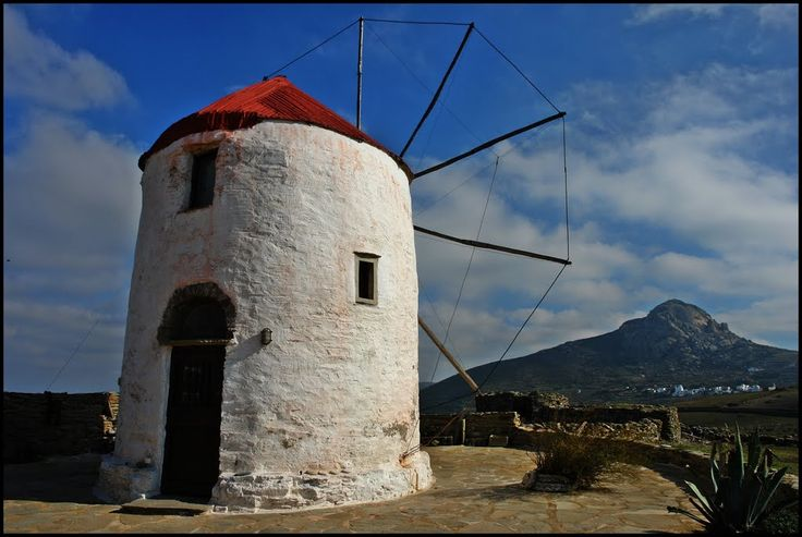 We ♥ Greece | Beautiful old windmill at Kampos village, Tinos island #Greece #travel #explore #destination