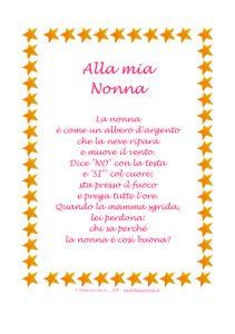 """Idea Regalo - Poesia in Cornice, Stelline - """"Alla mia Nonna"""" » Stampa, disegna e crea con Filastrocche.it"""