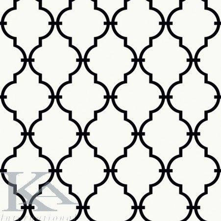 Un model cu linii curbe, cu onduleuri ce formeaza romburi delicate, care se intersecteaza. Tapetul acesta aminteste de modelele realizate din fier forjat.