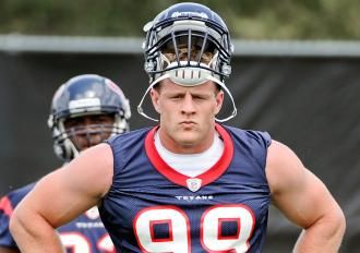 J.J. Watt says his weight gain came from hard work, not performance-enhancing drugs. (AP Photo)