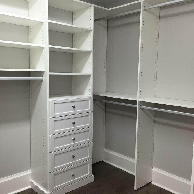 Closet Drawer Units: Custom Master Closet His Drawer Unit Shaker Sarasota
